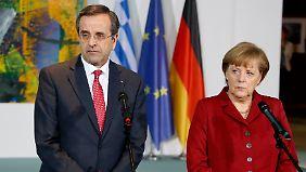 Treffen mit Merkel: Samaras sieht Athen auf gutem Weg