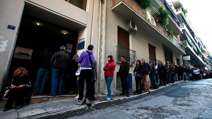 In Griechenland ist die Arbeitslosigkeit noch immer hoch.
