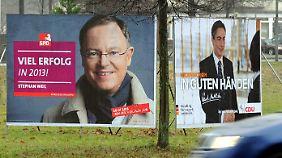 In Umfragen liegt McAllister einige Punkte vor der Weil, aber weiter regieren, kann er nur, wenn die FDP wieder in den Landtag einzieht.