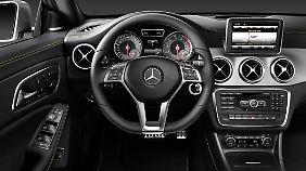 Der Innenraum ist typisch Mercedes.