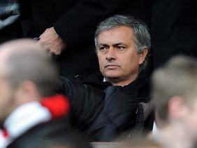 José Mourinho beim Besuch des englischen Ligaspiels zwischen Manchester United und dem FC Liverpool am 13. Januar.