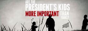 Auszug aus dem umstrittenen Video der NRA, in dem Obamas Familie direkt angegriffen wird.
