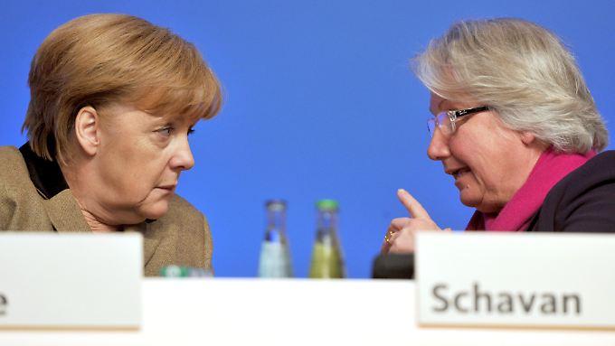 Angela Merkel verdankt Annette Schavan viel.