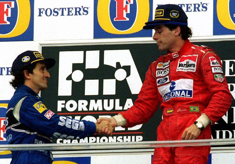 Die Mutter aller Teamduelle lieferten sich: ALAIN PROST und AYRTON SENNA (McLaren).