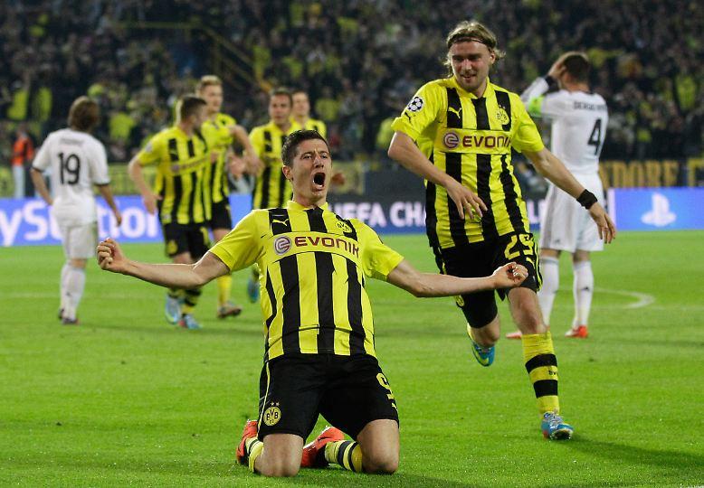 Vier Tore gegen Real Madrid in der Champions League - das schaffte vor Robert Lewandowski noch keiner.