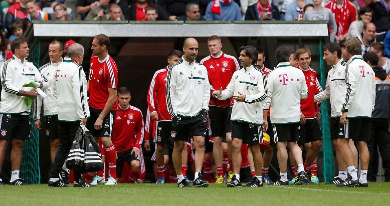 Da ist er, Pep Guardiola, der neue Trainer des FC Bayern München.