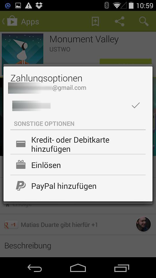 paypal will immer neues konto hinzufügen
