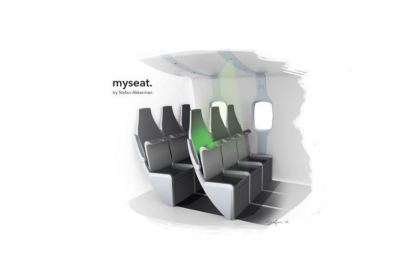 Ebenfalls ein Leitsystem hat die TU Delft entwickelt: Jeder Passagiere kann sich mithilfe von Licht zu seinem Sitzplatz navigieren lassen.