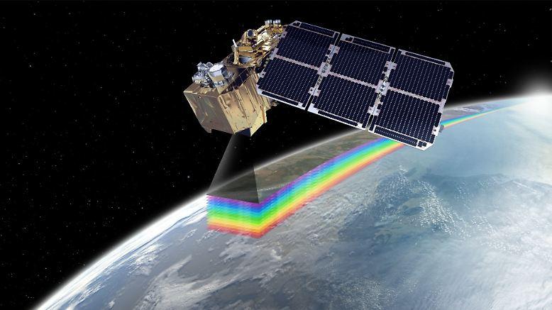 """Fünf Sentinels (englisch für """"Wächter"""") sind jetzt im All. Aus 700 bis 800 Kilometern Höhe ..."""