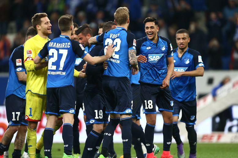 Nach dem Coup gegen den FC Bayern sind sie bei der TSG Hoffenheim allerbester Dinge.