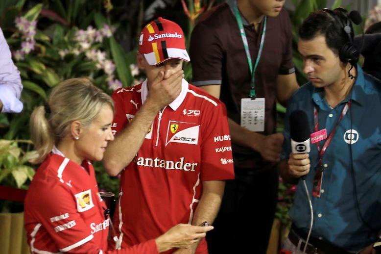 Fiasko statt WM-Führung hieß es für Sebastian Vettel beim Großen Preis von Singapur.