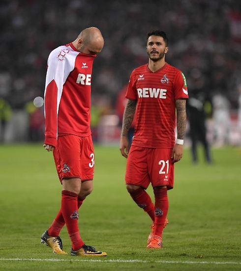 Spielende: völliges Entsetzen bei den Kölnern. Wieder null Punkte.