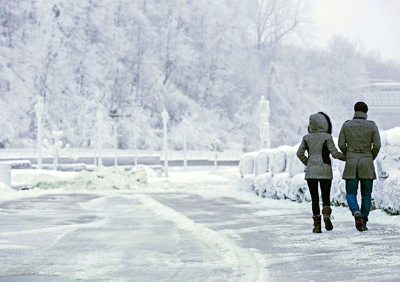 Auch im Winter lassen sich Touristen nicht von einem Besuch abschrecken.