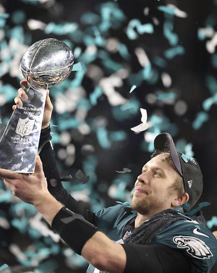 Es ist der Tag der Philadelphia Eagles. In einem packenden Super Bowl …