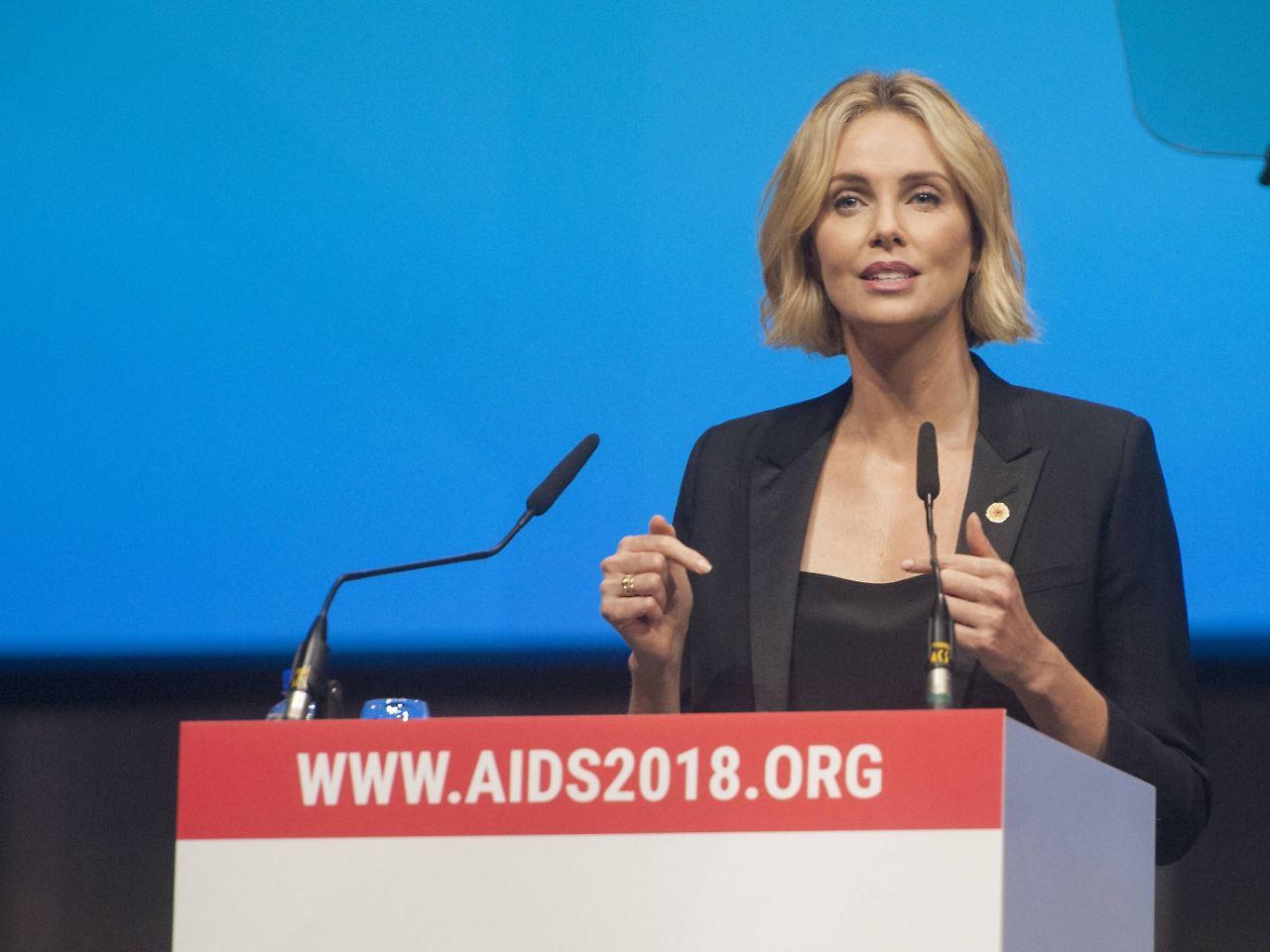 Auch Charlize Theron warb bei der Konferenz für den verstärkten Kampf gegen HIV