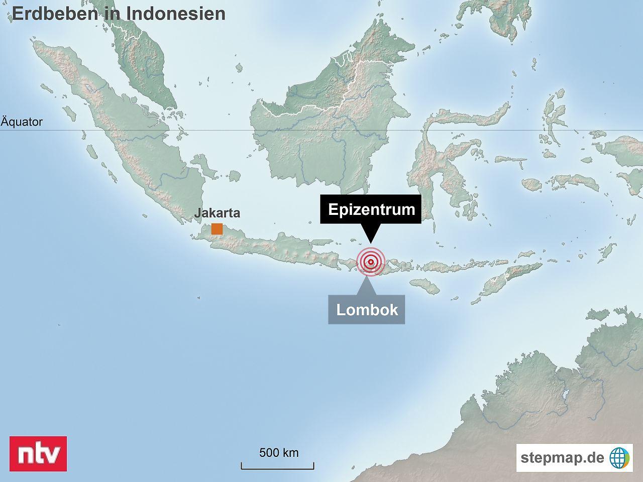 Erdbeben auf Lombok: 500 Wanderer von Vulkan gerettet