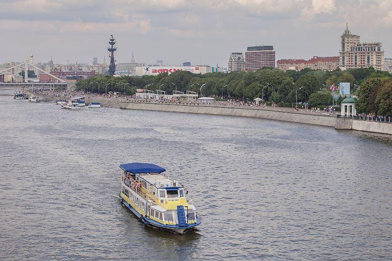 Einmal am Fluss Moskwa entlang, schon ist man im Gorki-Park. Wer ...