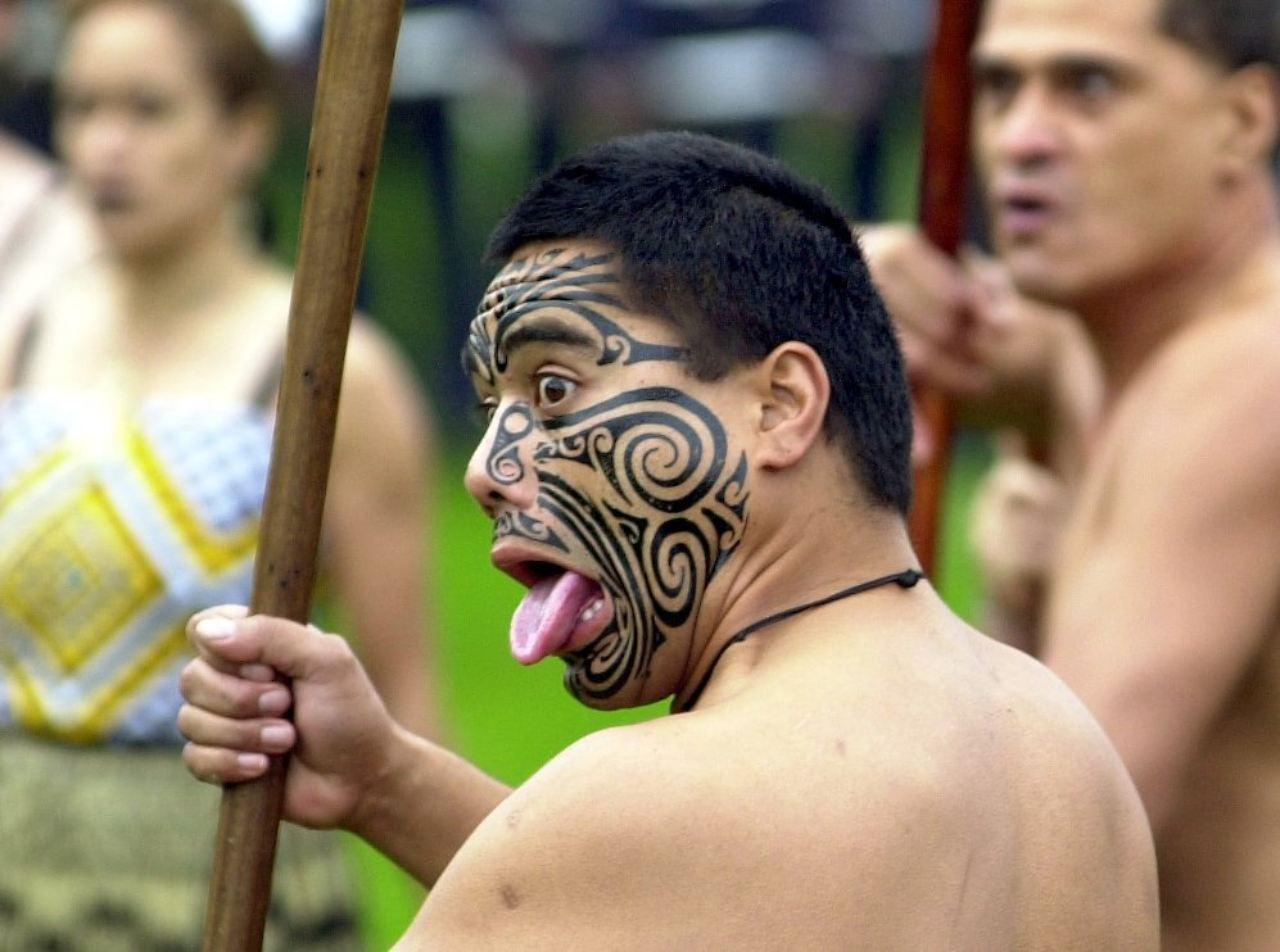 Sophisticated Maori Krieger Reference Of Die Sind Für Ihre Auffälligen Tätowierungen Am
