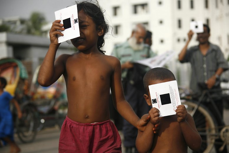 ... ein beeindruckendes Erlebnis für die Menschheit, überall auf der Welt, sei es in Bangladesch ...