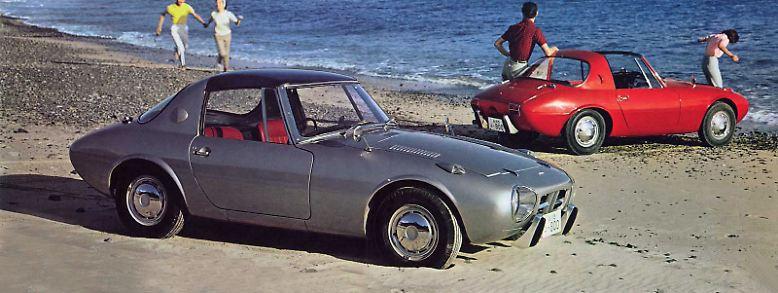 Umlagerter Star der Tokyo Motorshow 1964 war der seriennahe Toyota Publica Sport. Er ist der Urahn eines verzweigten Stammbaums aus über 80 Sportcoupé-Modellreihen, ...