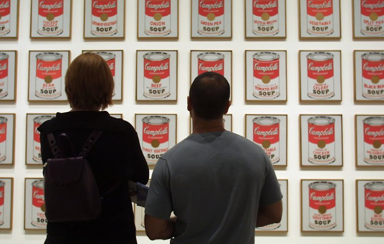 Andy Warhol Suppe Dosen Bedeutung