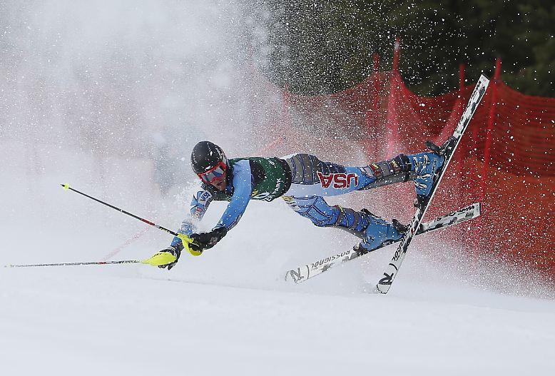 Crashkid: Skirennfahrer Seppi Stiegler kommt bei den US-Meisterschaften nicht im Ziel an.