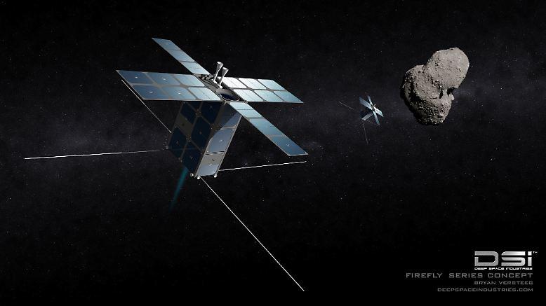 """Die Firma Deep Space Industries hat im Januar 2013 Pläne veröffentlicht, die langfristig zur kommerziellen Nutzung der Asteroiden in unserem Sonnensystem führen könnten: Zunächst sollen """"Firefly"""" (Glühwürmchen) genannte Satelliten Informationen über die Asterioden in Erdnähe sammeln."""