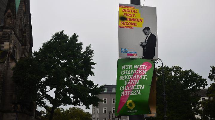 Auch mit verfälschtem Slogan zeigt die FDP Präsenz.