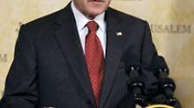 Besorgt um Israels Sicherheit: Bush hat eine Vision