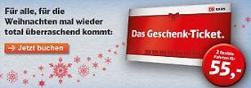 """Für 55 Euro quer durch Deutschland: Bahn verschleudert """"Geschenk-Tickets"""""""
