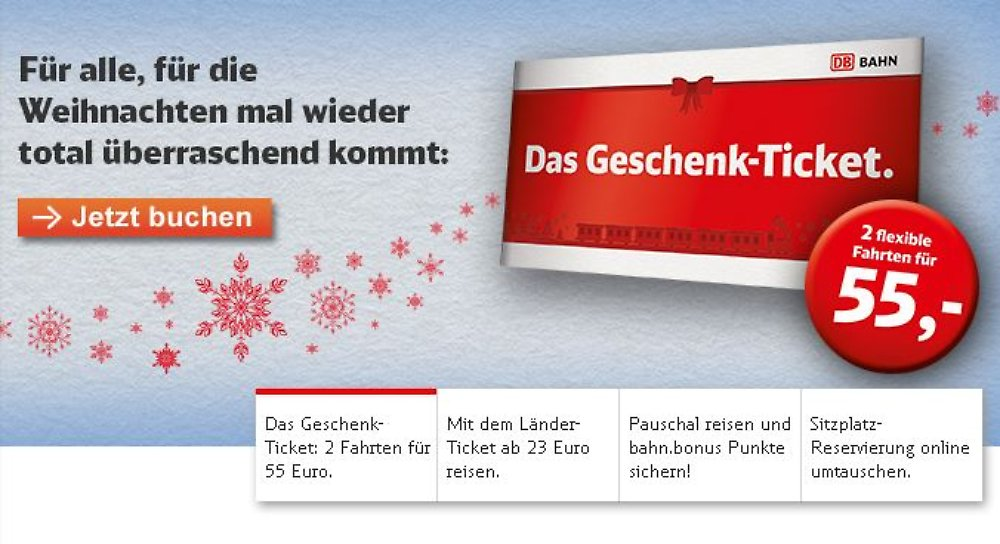 f r 55 euro quer durch deutschland bahn verschleudert geschenk tickets n. Black Bedroom Furniture Sets. Home Design Ideas
