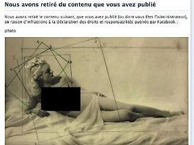 Auf Facebook ist das Guillot-Bild nun zensiert zu sehen.