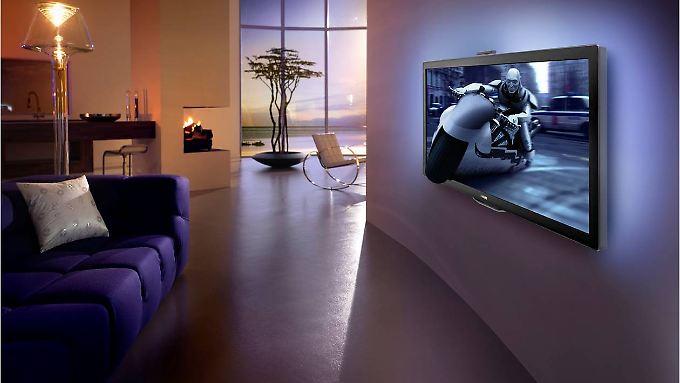 Der Philips Cinema 21:9 soll der erste 3D-Fernseher im Kinoformat sein. Er hat eine Bildschirmdiagonale von 148 Zentimetern