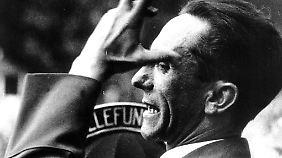 Propagandaminister Goebbels beging kurz vor Kriegsende Selbstmord.