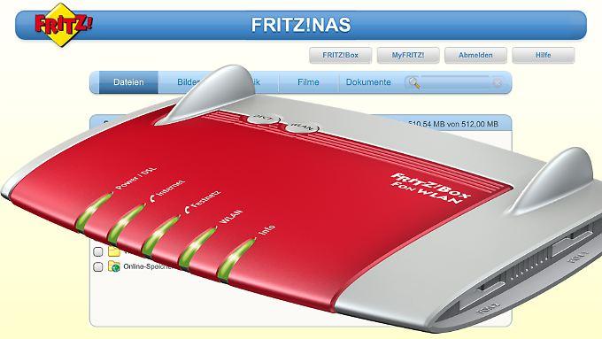 Via FritzNAS sind mit der Fritzbox verbundene Speicher überall zu erreichen.