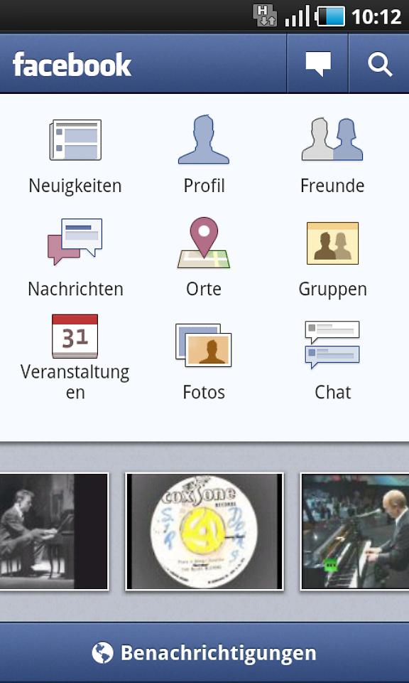 aktualisierung im android market facebook app jetzt mit chat n. Black Bedroom Furniture Sets. Home Design Ideas