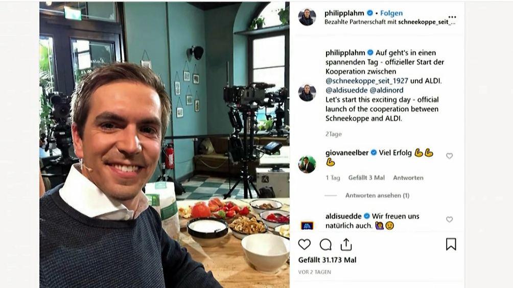 Warum Discounter Promis Lieben Philipp Lahm Wirbt Fur Aldi N Tv De